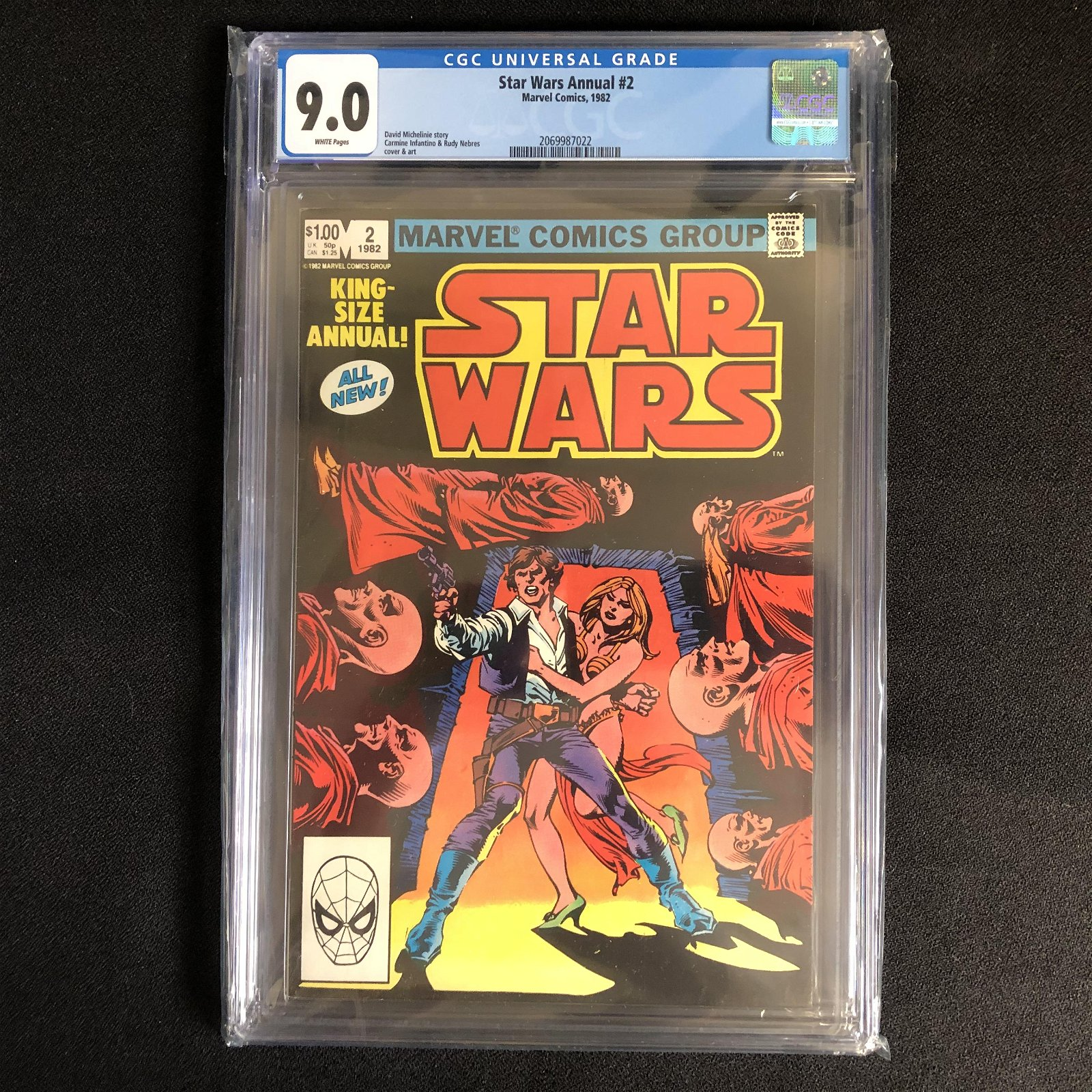 STAR WARS ANNUAL #2 (MARVEL COMICS) 1982 -9.0 GRADE-