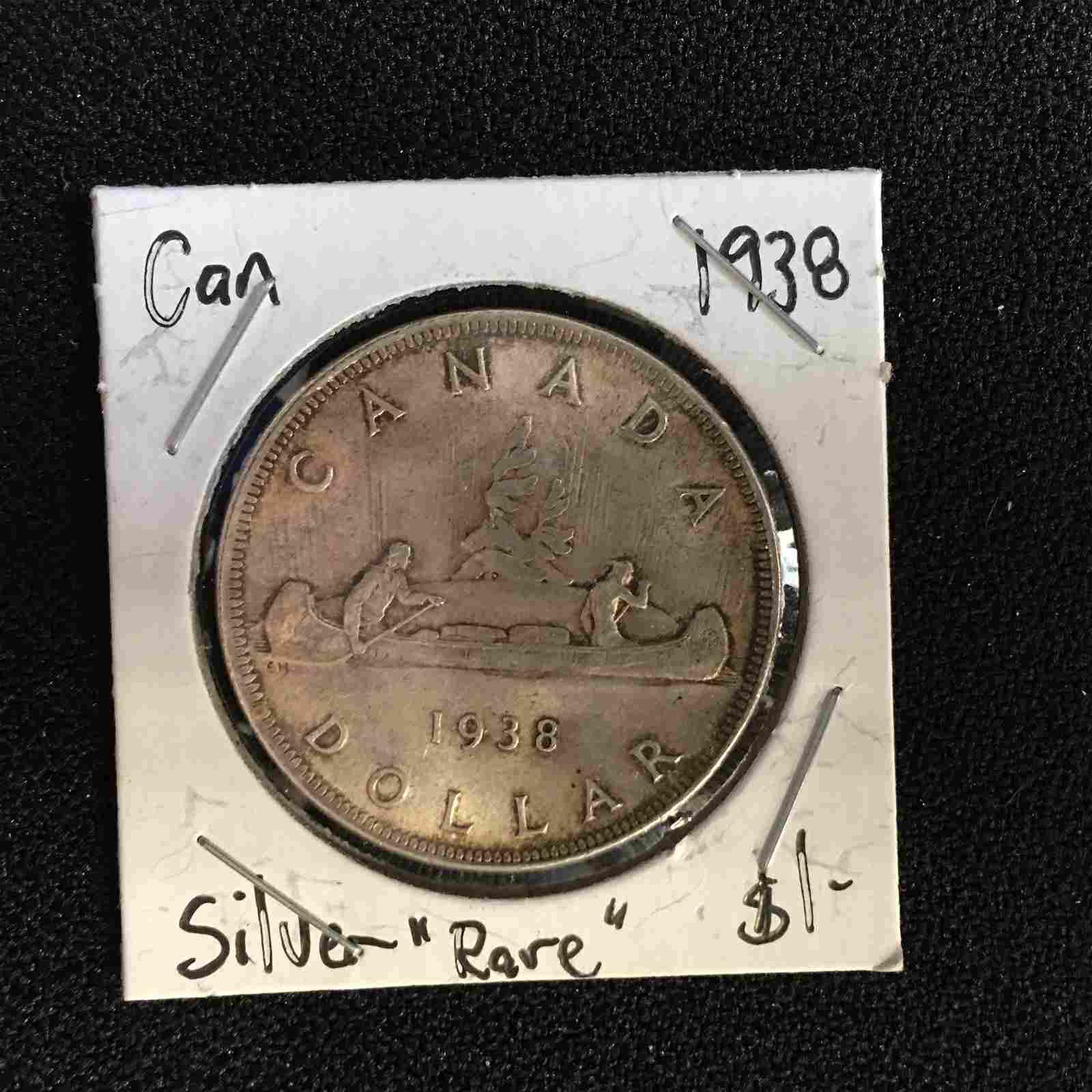 1938 CANADA SILVER DOLLAR (RARE)