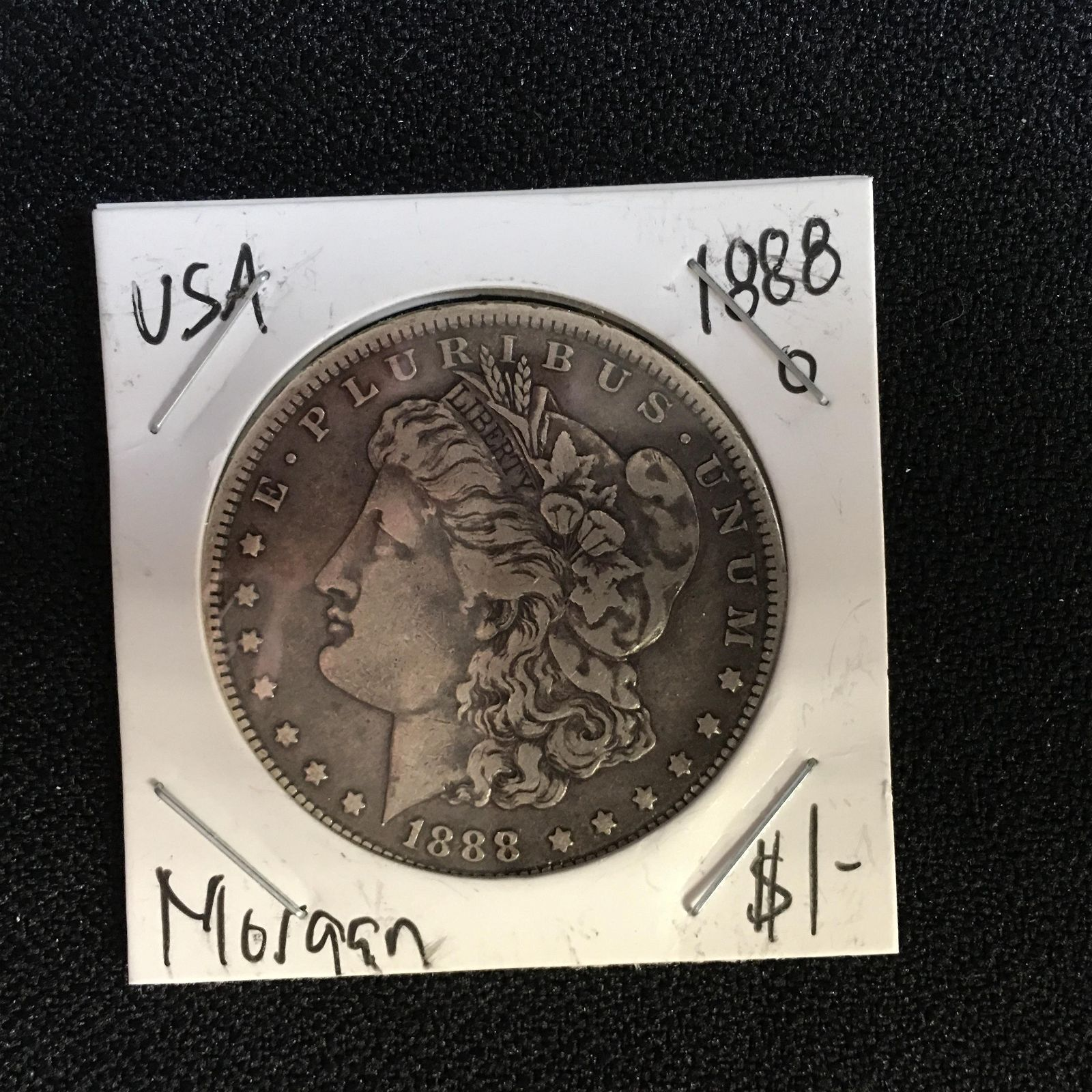 1888 USA MORGAN SILVER DOLLAR (NEW ORLEANS MINT)