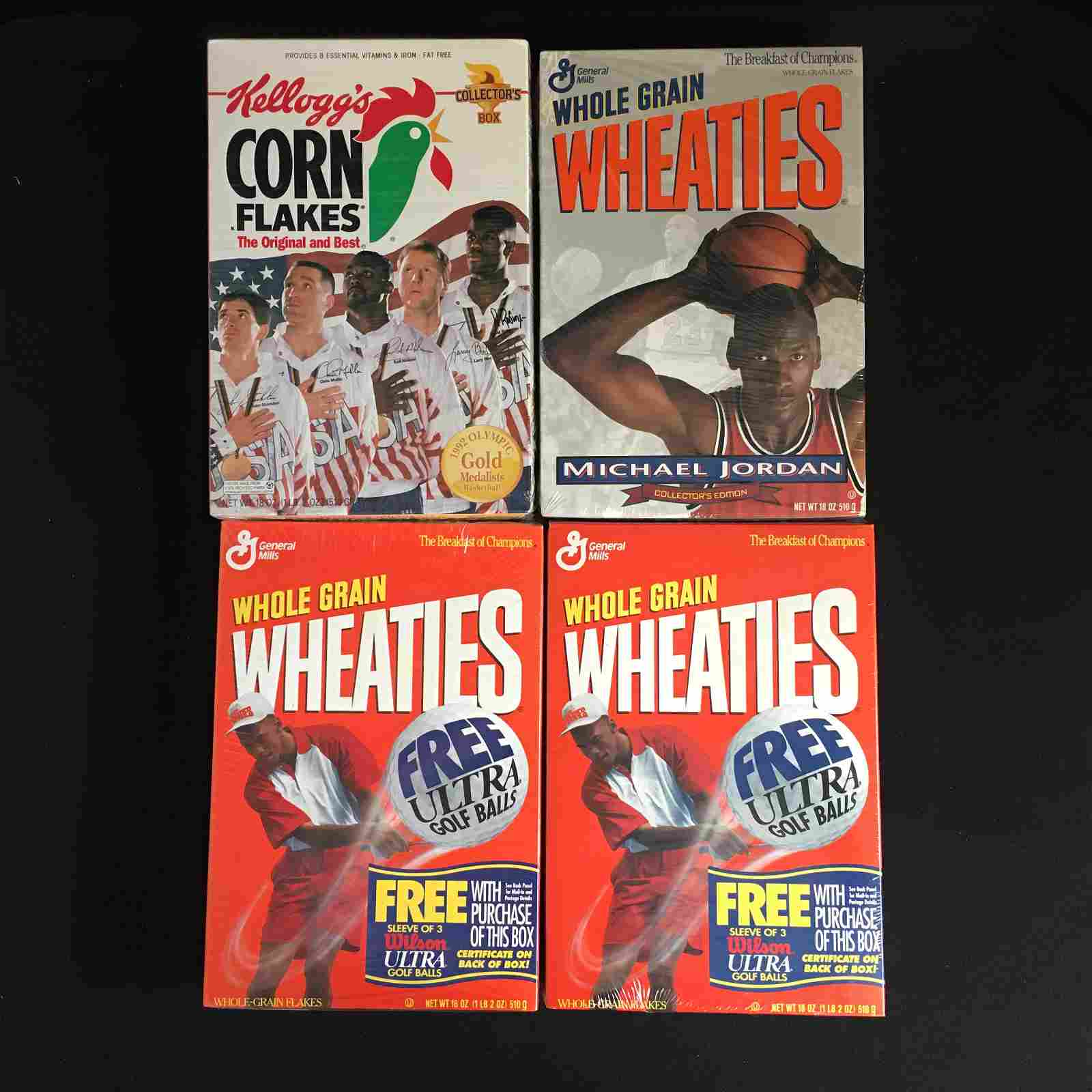 4 BOXES OF SEALED MICHEAL JORDAN WHEATIES