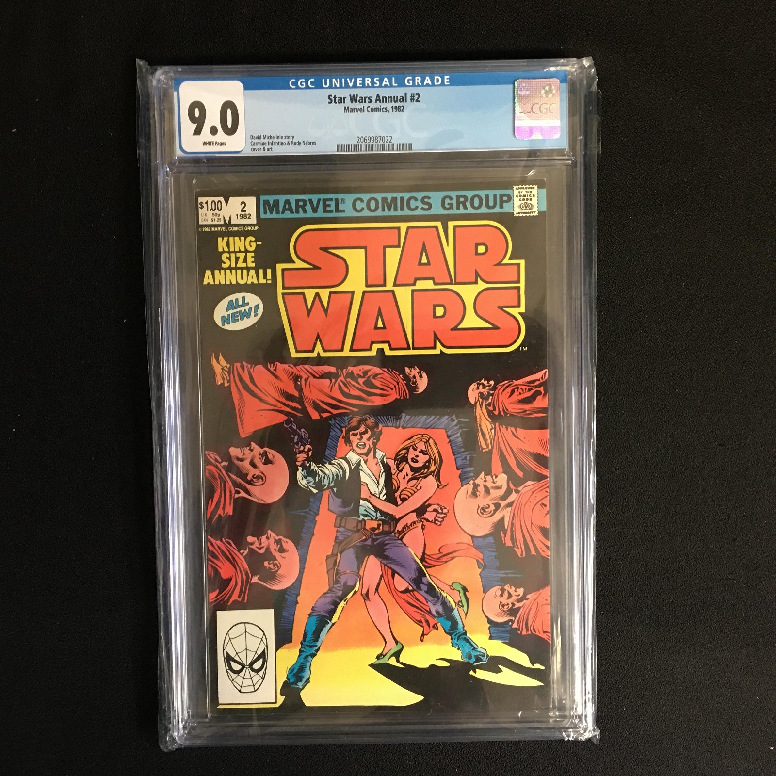 STAR WARS ANNUAL #2 (MARVEL COMICS) 1982 -CGC GRADED