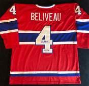 JEAN BELIVEAU SIGNED CANADIENS CAPTAIN JERSEY (JSA COA)