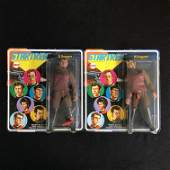 LOT OF 2 MINT CONDITION ON CARD MEGO STAR TREK KLINGONS