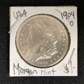 1904 USA MORGAN SILVER DOLLAR NEW ORLEANS MINTED