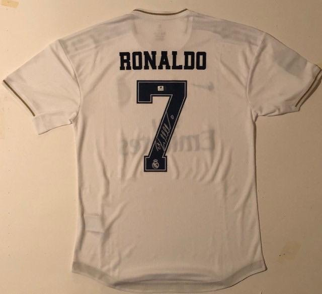 For Auction Cristiano Ronaldo Signed Real Madrid Jersey W Coa 0259 On Jul 07 2020 Canuck Auctions In Canada