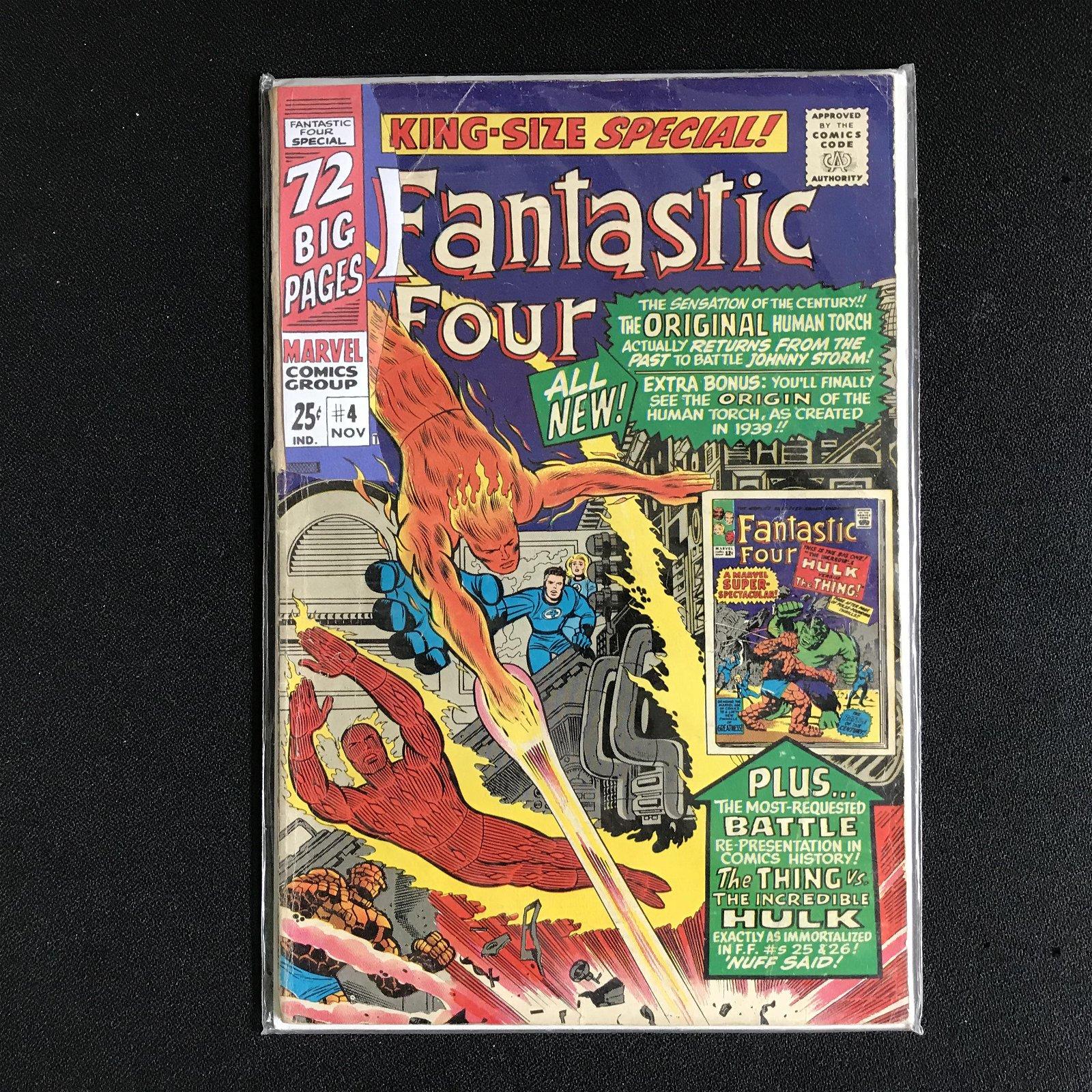 FANTASTIC FOUR #4 (MARVEL COMICS) KING-SIZE SPECIAL!
