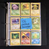 106 VINTAGE POKEMON CARDS