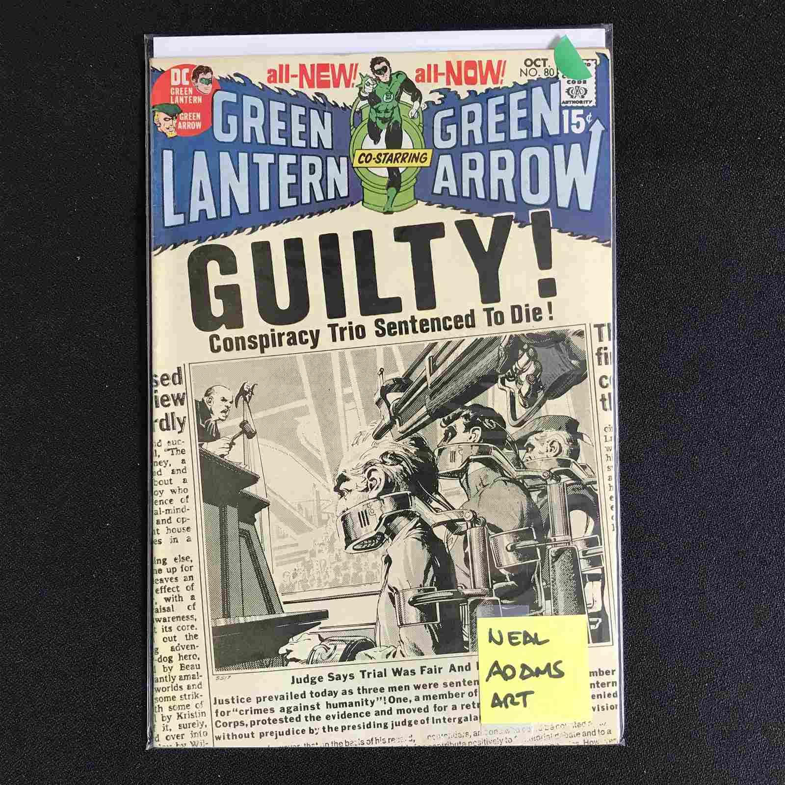 GREEN LANTERN Co-Starring GREEN ARROW #80 (DC COMICS)
