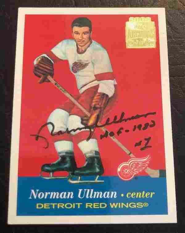 Norm Ullman Signed 2002 Topps OPC Archives #46