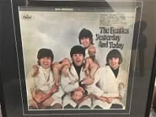 FRAMED THE BEATLES ORIGINAL 1966 RARE STEREO BUTCHER