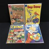 VINTAGE DELL COMICS BOOK LOT POPEYE BUGS BUNNY