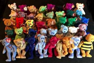 TY BEANIE BABIES LOT (MOSTLY 1996 AND RARE)