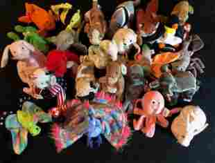 TY BEANIE BABIES INCLUDING SPANGLE, BUBBLES & HIPPITY