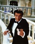 Roger Moore James Bond 007 Signed Authentic 11X14 Photo
