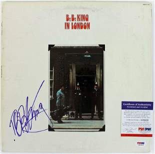 B.B. King In London Signed Album Cover W/ Vinyl