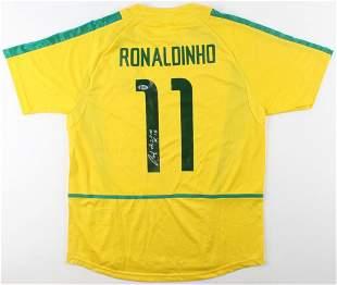 "Ronaldinho Signed Jersey Inscribed ""R10"" (Beckett COA)"