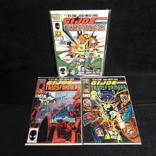 G.I JOE and The Transformers COMIC BOOK LOT (MARVEL