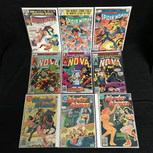 MARVEL/ DC COMICS BOOK LOT (SPIDER-WOMAN, WONDER WOMAN,