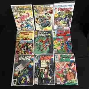 FANTASTIC FOUR/ G.I JOE COMIC BOOK LOT (MARVEL COMICS)