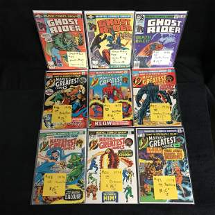 MARVEL'S GREATEST COMICS/ GHOST RIDER COMIC BOOK LOT