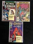 MARVEL COMICS #1s BOOK LOT (KING CONAN, CONAN, RED
