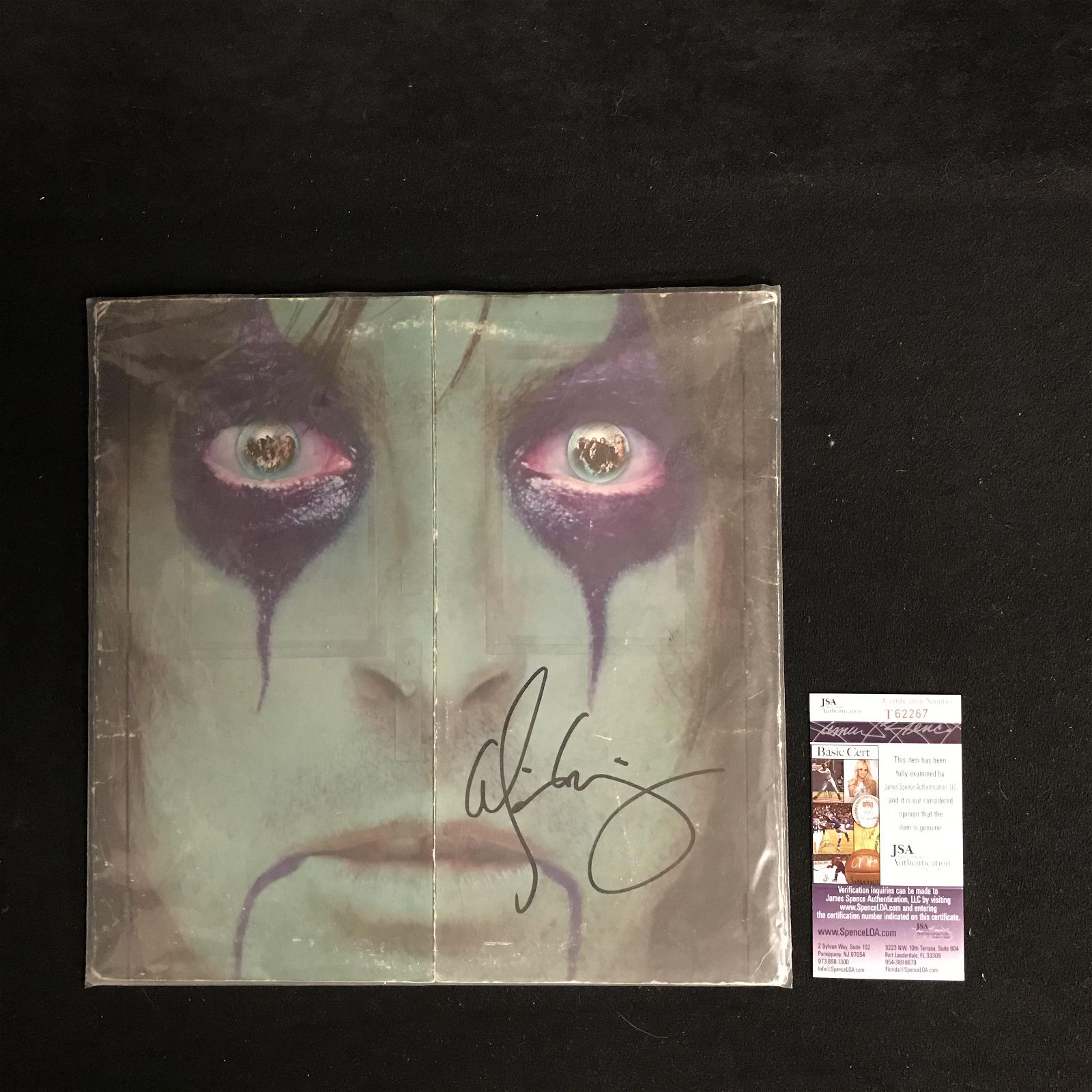 """ALICE COOPER SIGNED """"FROM THE INSIDE"""" VINYL RECORD"""