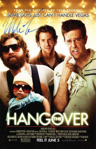MIKE TYSON SIGNED ?THE HANGOVER? 11?17 MOVIE POSTER