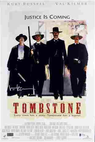 Val Kilmer Tombstone Authentic Signed 12x18 Mini Movie