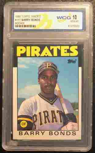 1986 TOPPS TRADED #11T BARRY BONDS RC (WCG 10)