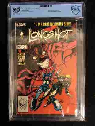 LONGSHOT #6 CBCS GRADE 9.0 (MARVEL COMICS) 1986