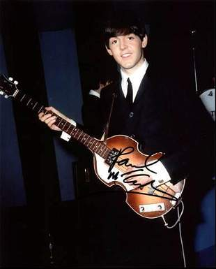 Paul McCartney The Beatles Authentic Signed 8X10 Photo
