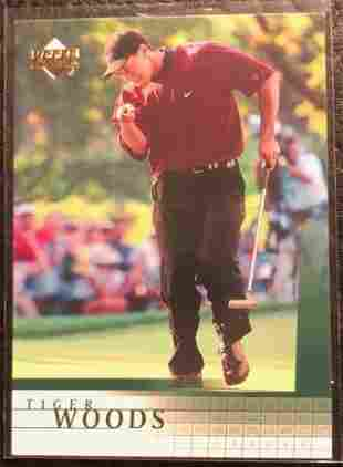 2001 Upper Deck #1 Tiger Woods Rookie Card