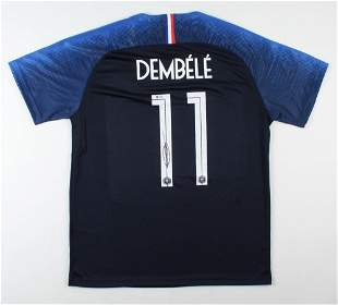 Ousmane Dembele Signed Team France Jersey (Beckett COA)