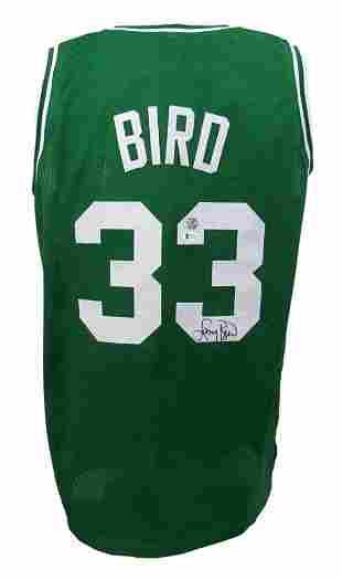 Larry Bird Signed Jersey (Beckett COA & Bird Hologram)
