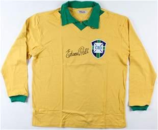 Pele Signed Team Brazil Jersey (JSA ALOA)