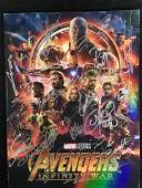 AVENGERS: INFINITY WAR AUTOGRPAHED MOVIE COLLECTOR BOOK