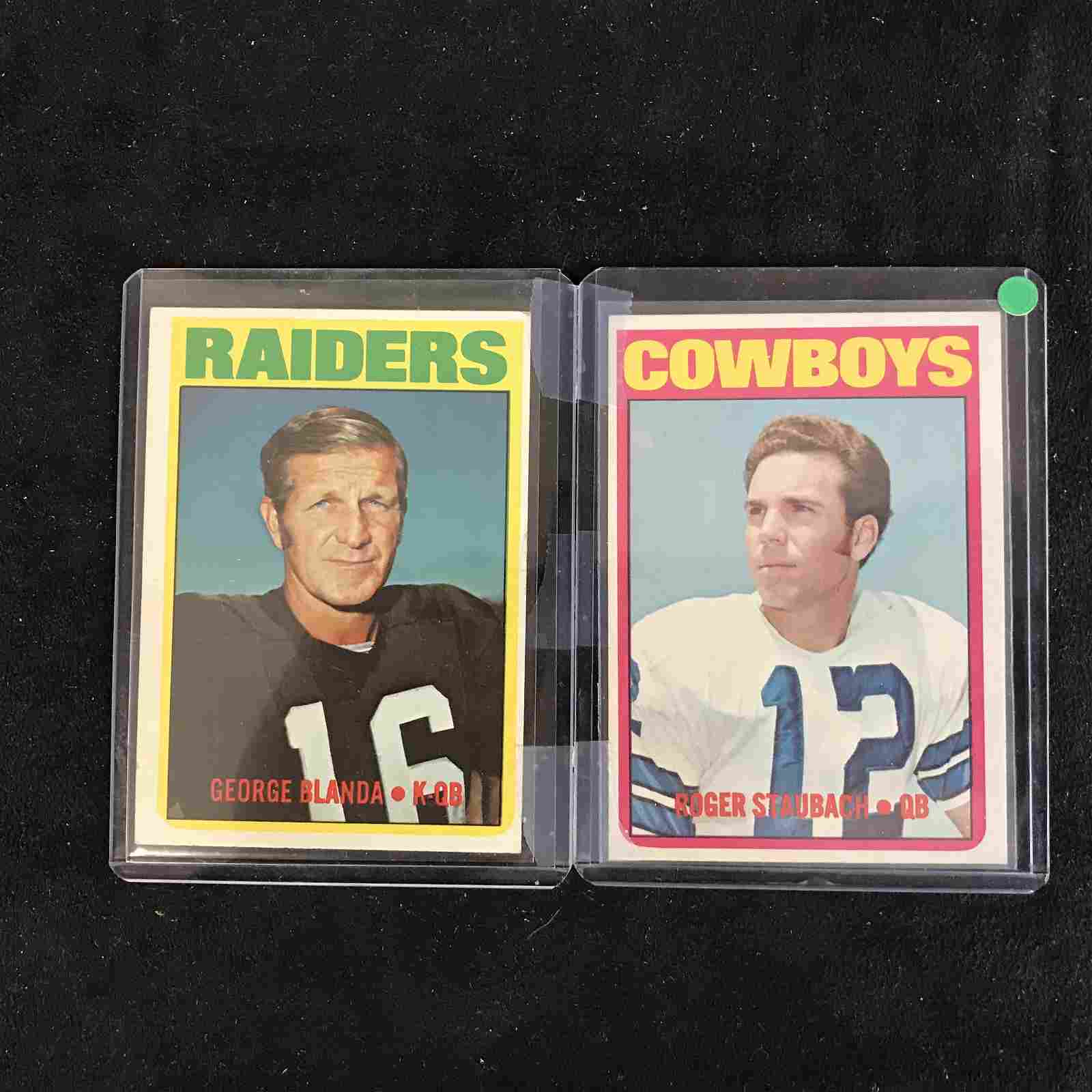 1972 TOPPS FOOTBALL CARD LOT (G. BLANDA/ R. STAUBACH)