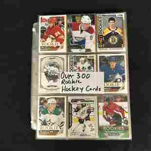 300+ HOCKEY ROOKIE CARD LOT
