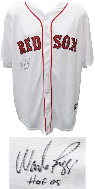 WADE BOGGS SIGNED BOSTON RED SOX MAJESTIC WHITE