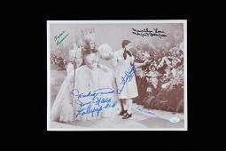 """""""THE WIZARD OF OZ"""" 11x14 PHOTO CAST-SIGNED BY SLOVER,"""