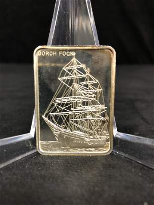 GORCH FOCK LAST OF WINDJAMMERS COLONIAL MINT 1 OZ 999