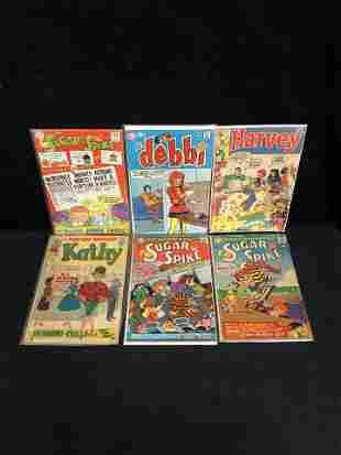 VINTAGE COMIC BOOK LOT (SUGAR & SPIKE, HARVEY...)