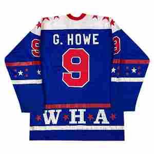 GORDIE HOWE GAME-WORN 1977 WHA ALL-STAR JERSEY (LOA