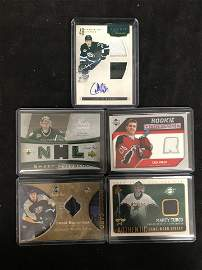 UPPER DECK HOCKEY GAME JERSEY/ AUTO CARD LOT