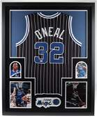 Shaquille O'Neal Signed 34x42 Custom Framed Jersey