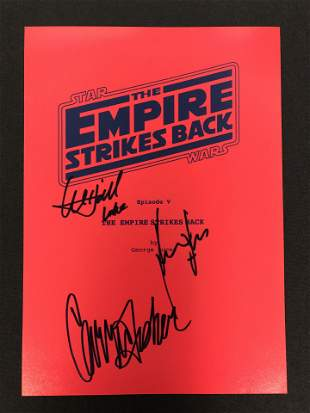 EMPIRE STRIKES BACK SIGNED SCRIPT COVER (REAL AUTHENTIC