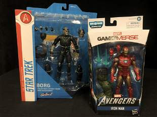 NEW IN BOX COLLECTIBLES ( STAR TREK AVENGERS