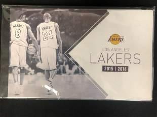 2015-16 Los Angeles Lakers Unused Season Ticket Book -