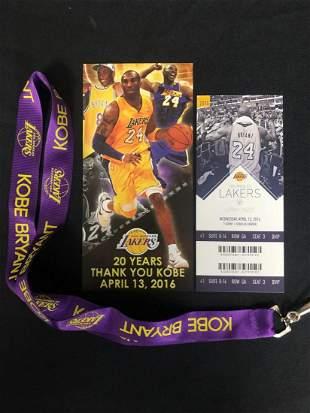 Kobe Bryant LA Lakers Lanyard Giveaway 04/13/16 w/ Game