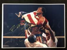 Sylvester Stallone Signed Rocky Photo (Real Authentic C